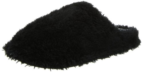 Dearfoams Women's Fluffy Terry Clog,Black,X-Large/11-12 M US