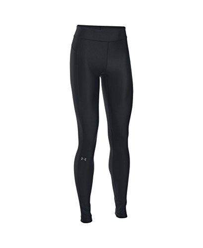 Under Armour Womens HeatGear Armour Legging, Black /Metallic Silver, Small by Under Armour (Image #3)