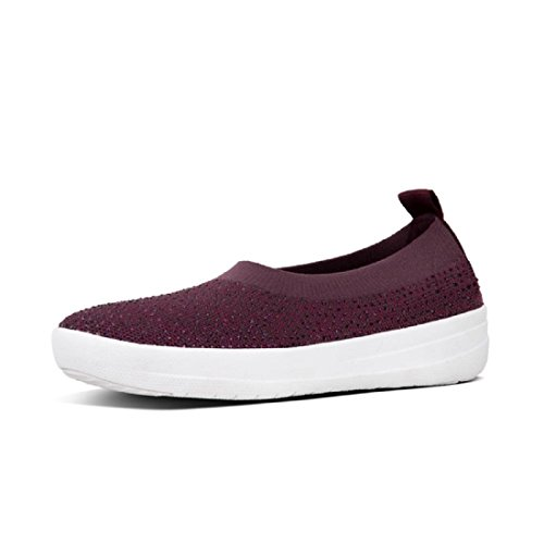 cheap for discount f4828 7e8d3 FitFlop Fitlfop Uberknit Ballerina Crystal, Plum B078T4KBMV Shoes Shoes  Shoes 6dc864