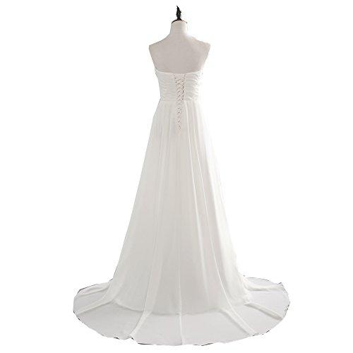 2017 Venda Quente Uma Linha chiffon Vestidos de Casamento Beading Vestido de Noiva Longo de cristal barato Robe De Mariage Com Pregas at Amazon Womens ...