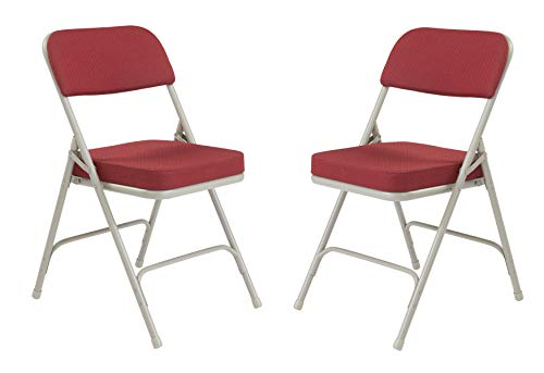 National Public Seating 3218 Folding Chair, New Burgundy