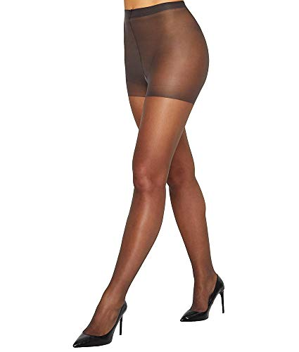 Hanes Silk Reflections Sheer Toe Control Top Pantyhose, G/H, Barely Black
