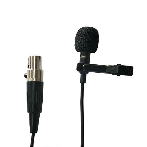 Samje Lavalier Lapel Microphone - Cardioid Condenser Tie Clip on Mic for AKG Wireless Transmitter Bodypack Beltpack (Mini 3 Pin XLR Plug)