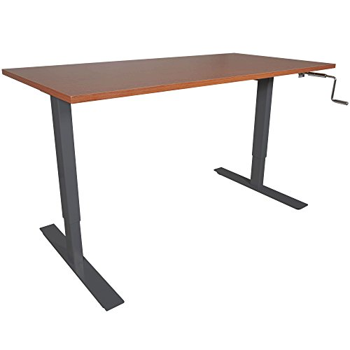 "Titan 30"" x 60"" S5 Adjustable Height Sit to Stand Wood Desk 28""- 47"" H"