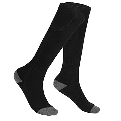 4500mah Electric Socks Rechargeable Heated Battery Powered Thermal Socks for Winter Sports Skiing Hiking Black