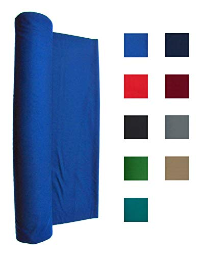 Performance Grade Pool Table Felt - Billiard Cloth - for an 8 Foot Table Blue