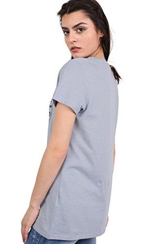 PILOT® lazada frontal camiseta impresa azul polvorienta