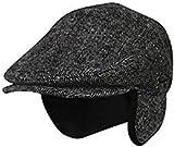 Folie Co. XLarge 100% Wool Herringbone Winter Ivy Cabbie Hat w/Earflaps – Driving Hat