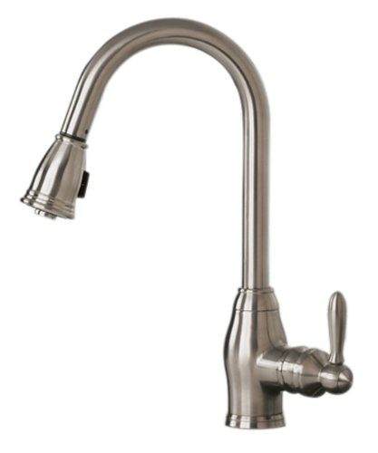 Pegasus FP0A5013BNV Newbury Pull-Out Spray Kitchen Faucet, Brushed Nickel