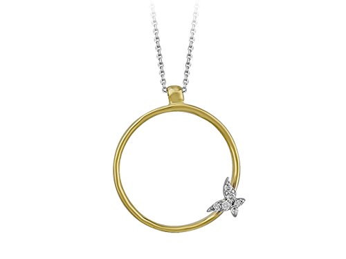 Birgie Diamants et Bijoux - Collier Papillon Diamants-Femme- or Blanc 201P0070