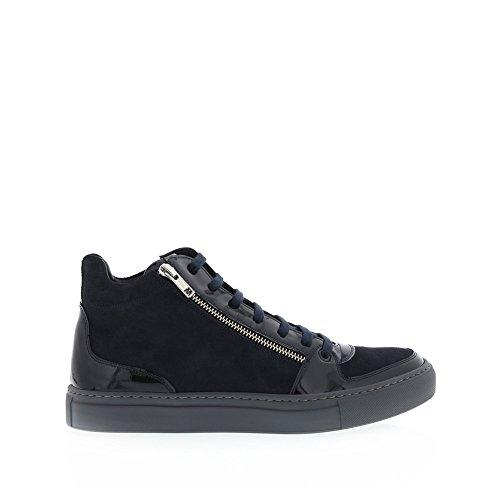 Angelo Burlinetto Menns Dobbel Glidelås Sneaker Navy