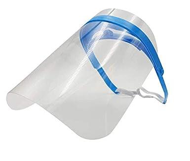 Pantallas Protección Facial Transparente – Pack de 10 – Visera Protección de Cara, Abatible y Reutilizable – Máscara protectora para uso profesional y doméstico con banda elástica ajustable: Amazon.es: Industria, empresas y ciencia