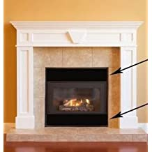 """Magnetic Fireplace Vent Cover - Black (ONE) 40"""" x 4"""""""