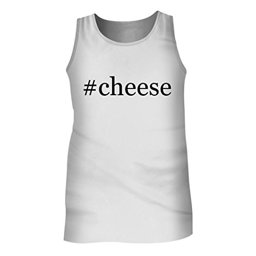 Tracy Gifts #Cheese - Men's Hashtag Adult Tank Top, White, Medium