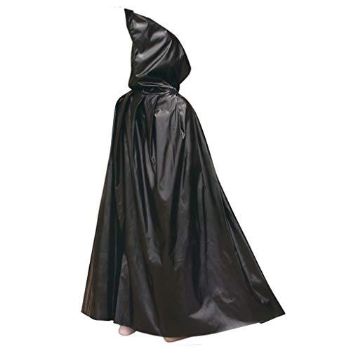 Vegan Vampire Cape Halloween Hooded Cloak Robe Costume, Red Black Medieval Easter Christmas Party Cosplay Hooded -