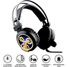 Telephone Universal Zone Interface - Stereo Gaming Headset for PS4, 7.1 Channel Surround Sound USB Gaming Headset with LED Lighting, Microphone, and Noise-Reduction for Phone iPad PC Computer,kairong