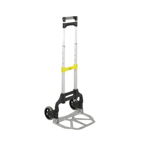Safco Products 4049NC Stow and Go Utility Hand Truck, Silver/Black (Stow And Go Cart)