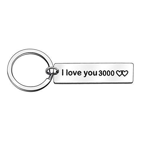 Llavero con texto en ingles I Love You 3000 «Family» para papa, mama, marido, esposa, novio y ella