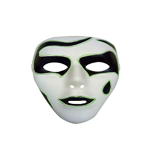 Luminous Glow Mask Halloween Luminous Ghost Step Dance Adult Men and Women Fluorescent Decoration Props,C