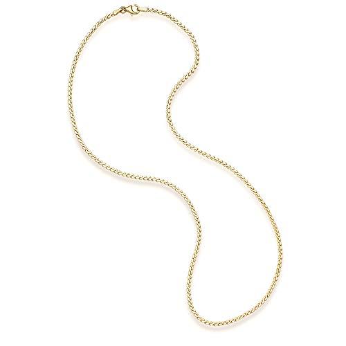 14k Yellow Gold Serpentine Chain Necklace, 18 ()
