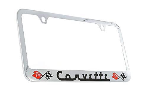 Chevrolet Corvette C1 Chrome Plated Metal License Plate Frame Holder