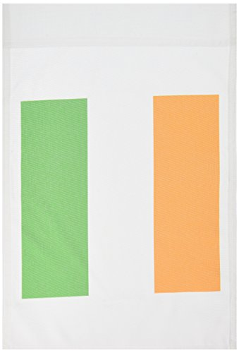 3dRose fl_158340_1 Flag of Ireland-Irish Green White Orange Vertical Stripes United Kingdom Garden Flag, 12 by 18-Inch