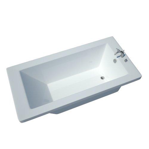 Atlantis Whirlpools 3272vn Venetian Rectangular Soaking Bathtub, 32 X 72, Left Or Right Drain, White (Whirlpool Reversible Tub Finish Bath)