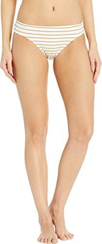 (LAUREN RALPH LAUREN Women's Lurex Stripe Hipster Bottoms Gold/White 16)