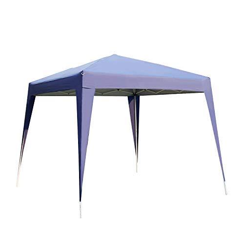 Kinbor 10x10ft Outdoor Garden Durable Portable Gazebo, Patio Backyard Adjustable Canopy Party Tent   Front Porch, Sand ()