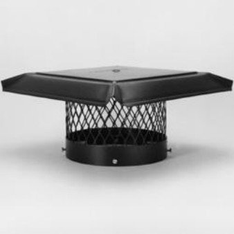 Chimney 14850 HomeSaver Pro Chimney Cap For Round Clay Flue Tiles   10  Inches