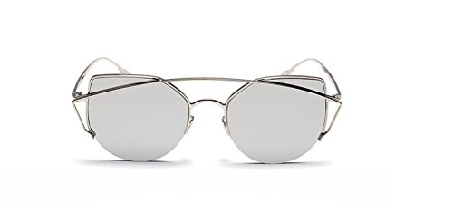 GAMT Metal Frame Colorful Cateye Sunglasses UV Protection Sexy Fashion Design Eyewear - Beckham Victoria Pink Sunglasses