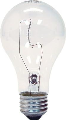 GE Lighting 97478 25-Watt 215-Lumen Decorative A19 Incandescent Light Bulb, Crystal Clear, 2-Pack