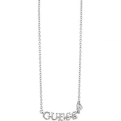 909d42a47033 GUESS - Collier GUESS Métal Cristal - Femme - 46 cm  Amazon.fr  Bijoux
