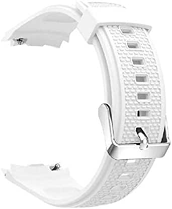 Silicone Watch Bracelet From Liger Compatible With Huawei Watch 2 White Color