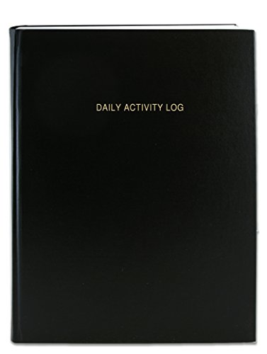 BookFactory Daily Activity Log Book / 365 Day Log Book (384 Pages) / 365 Page Diary, Black Cover, Smyth Sewn Hardbound, 8 7/8'' x 11 1/4'' (LOG-384-DAY-A-LKT32) by BookFactory
