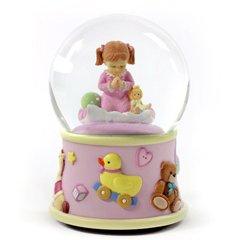 Bedtime Prayers Girl Musical Water Globe by The San Francsco Music Box Company -