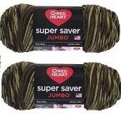 Bulk Buy: Red Heart Super Saver (2-Pack) (Camouflage, 5 oz Each - Camo Yarn