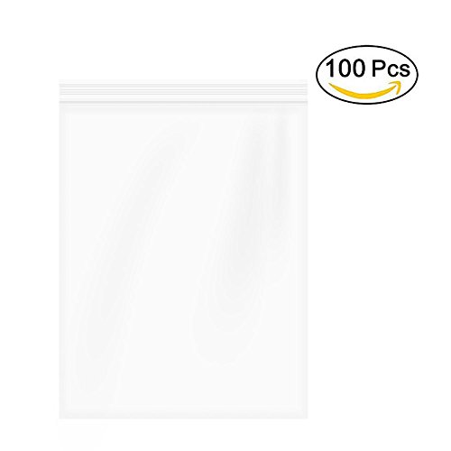 """9""""x12"""" 2 Mil,Resealable Plastic Bag Clear Reclosable Zip Bags,Clear Resealable Poly Ziplock Bags Bulk,Pack of 100"""