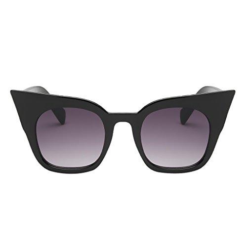 Homyl Mujer té Viaje Gafa de leopardo UV400 Pesca de Deporte Regalo Estilo Protección Hombre para Conducción Lente Sol marco de Gato gris de Lente de Vintaje negro degradado marco Ojos negro Unisex OOBUrqw