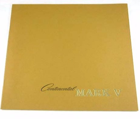 1978 78 Lincoln CONTINENTAL MARK V BROCHURE Blass Pucci Diamond Jubilee