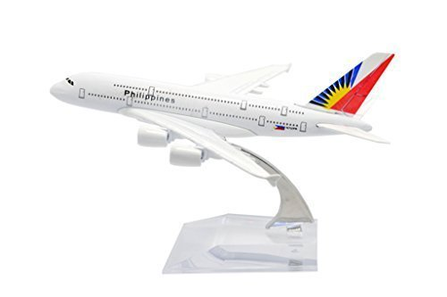 TANG DYNASTY(TM) 1:400 16cm Air Bus A380 Philippine Airlines Metal Airplane Model Plane Toy Plane Model (Airlines Philippine)