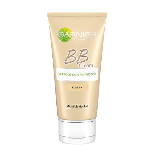 Garnier BB Cream Miracle Skin Perfector / getönte Tagescreme 5 in 1 mit Vitamin C-Komplex und Mineralpigmenten / Farbe: Mittel bis Dunkel, dermatologisch getestet, 1er Pack - 50 ml