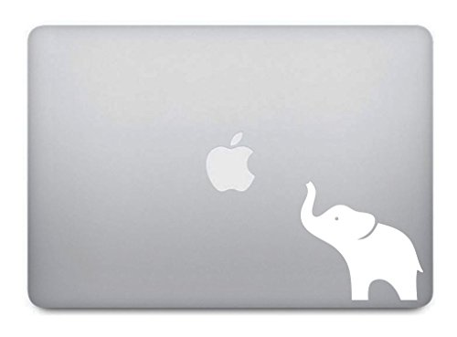 White Elephant Macbook Decal - Removable Vinyl Skin Sticker for Apple Macbook Pro Air Laptop - G001W