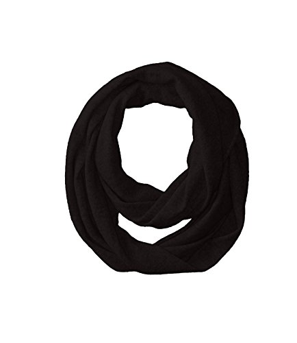 bela.nyc Women's Cashmere Solid Infinity Scarf, Black, One Size by bela.nyc