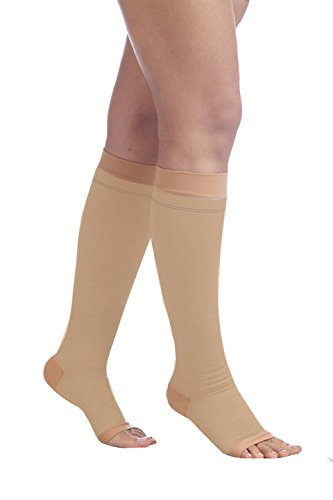 533f92dfd7 Buy Comprezon Varicose Vein Stockings Class 2 Below Knee- 1 pair (Medium)  Online at Low Prices in India - Amazon.in
