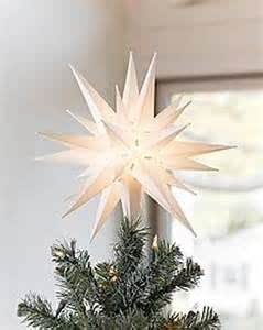 Elf Logic - Moravian Star Tree Topper - Beautiful Bright White 3D Lighted Christmas Star Tree Topper - Use as Advent Star, Bethlehem Star, or as Holiday Light Decoration! (12 Inch)