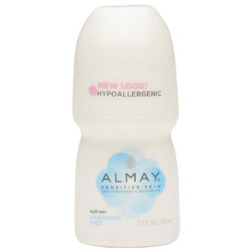 Almay Roll-On Antiperspirant & Deodorant, Fragrance Free 1.7 oz Pack of 2