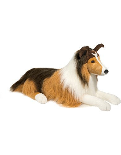 Extra Large Original Lassie Collie Dog- Stuffed Animal Therapy for People with Memory Loss from Aging and (Large Collie)