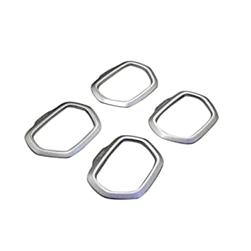 ABS cromado mate marco de altavoz de la puerta Interior de Coche 4 piezas para coche accesorios jpre: Amazon.es: Coche y moto