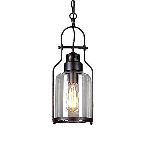 Metal Glass Industrial Pendant Light, MKLOT Ecopower Minimalism Retro Vintage 5.91